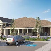 hnn promenade clubhouse exterior rendering