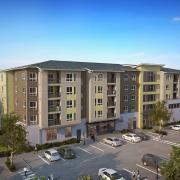 hnn uptown square apartment exterior rendering