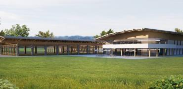 horse stables exterior rendering