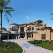 luxury home exterior rendering
