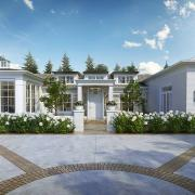 razore residence front yard 3d rendering