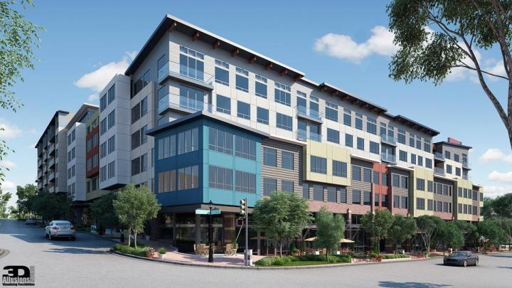 seattle mixed use exterior rendering 4