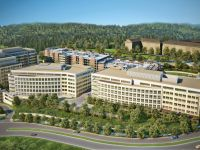 talus corporate campus aerial architectural rendering