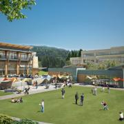 talus corporate campus grounds architectural rendering