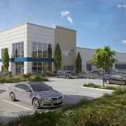 trammel crow north creek distribution facility 3d rendering