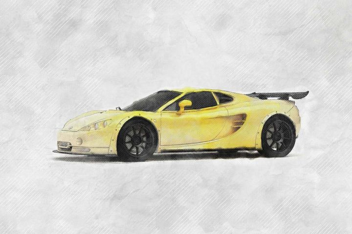 ascari kz1r sketch style automotive illustration