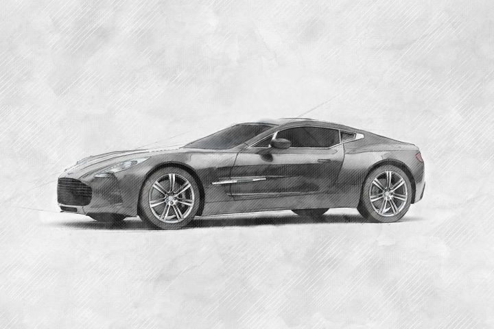 aston martin one sketch style automotive illustration4 274