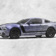 ford mustang boss sketch style automotive illustration