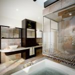 aragon condo bathroom interior architectural rendering