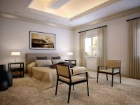 aragon condo bedroom interior architectural rendering