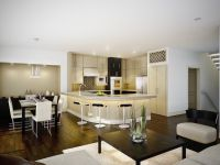 aragon condo kitchen interior architectural rendering