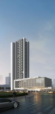 tower highrise architectural rendering