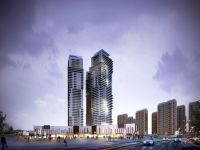tower highrise concept2 dusk architectural rendering 327