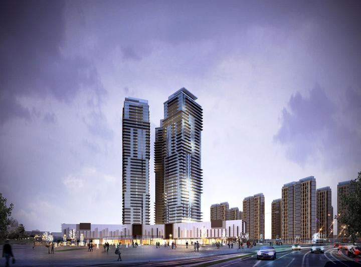 tower highrise concept2 dusk architectural rendering 2