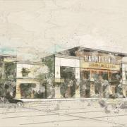 bn northgate mall hand sketch illustration style