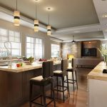 burke development house2 kitchen interior architectural visualization