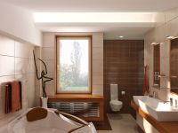 custom bathroom interior design rendering 412