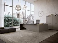 glam office inteior design rendering