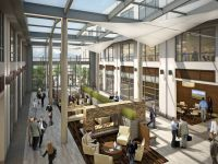 lone peak corporate campus atrium interior rendering 426