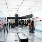 perfume retail store interior visualization rendering