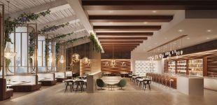 restaurant overall interior design visualization rendering