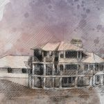 rudd residential house watercolor rendering illustration