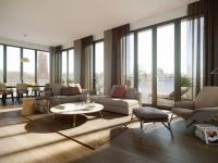 the elliot condominium living area interior rendering