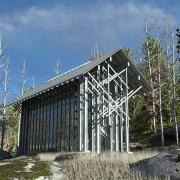 thorncrown chapel digital 3d recreation exterior architectural rendering