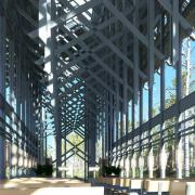 thorncrown chapel digital 3d recreation interior architectural rendering