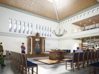 torah center religious interior rendering