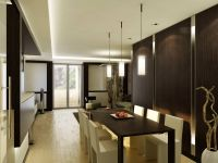 town house residential dining interior visualization