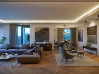 varijanta residential living area evening interior visualization
