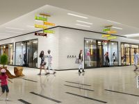 zara retail mall interior rendering option a