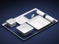 airline tray product illustration photorealistic rendering opt2