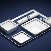 airline tray product illustration photorealistic rendering opt3