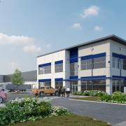 bridge point sumner south office manufacturing facility exterior architectural rendering