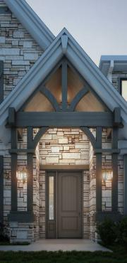 jeld wen entry door product illustration photorealistic rendering ext01