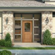 jeld wen entry door product illustration photorealistic rendering ext02