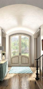 jeld wen entry door product illustration photorealistic rendering int03