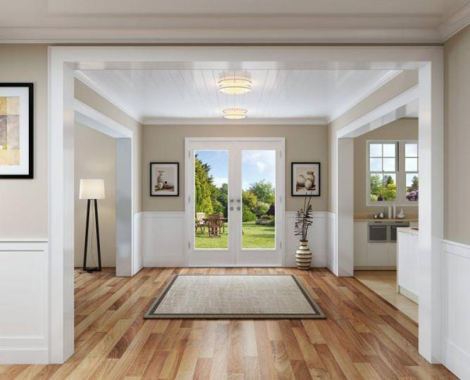jeld wen entry door product illustration photorealistic rendering int05