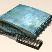 metal structure model style rendering illustration