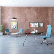 shiny chair product illustration photorealistic rendering 14
