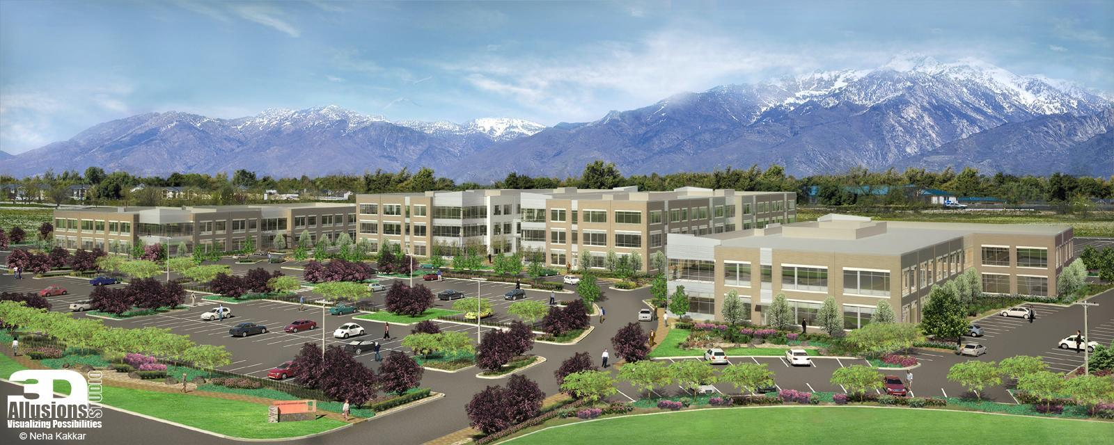 Lone Peak Overall Architectural Rendering