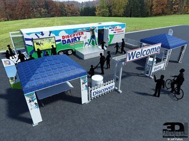 Dairy Trailer Exterior Visualization