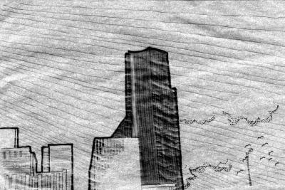 seattle cityscape sketch3