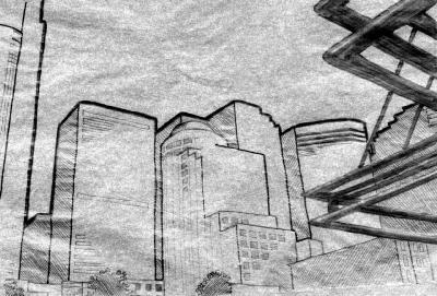 seattle cityscape sketch4